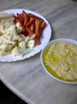 Crudités with Homey Hummus
